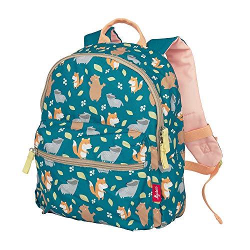 SIGIKID 25131 Rucksack Fuchs Colori Mädchen und Jungen Kinderrucksack empfohlen ab 2 Jahren grün, 30x23x17 cm