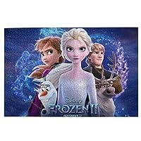 パズル 1000ピース 人気 アニメパズル 大型木製 パズルおもちゃギフト創造的な減圧diyチャレンジアート画像アナと雪の女王 2