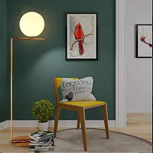 Lampadaires- Nordic creative lampadaire simple salon lampe chambre étude ronde balle standard lumière simple moderne LED lumières (Size : Small single ring)