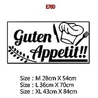 22スタイルの家の装飾アクセサリー壁画壁紙のポスターのための大規模なキッチンウォールステッカーホームデコレーションステッカービニールステッカー (Color : E760, Size : Size M)