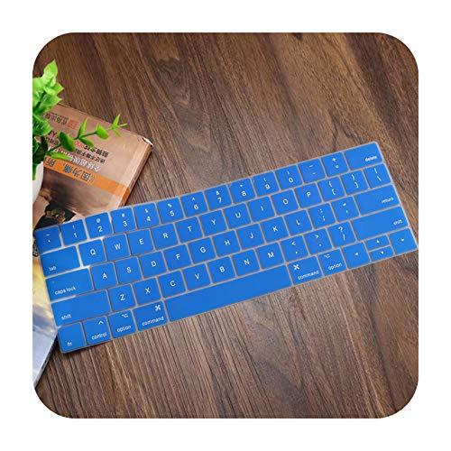 English US Enter - Carcasa de silicona para MacBook Pro 13' A1706 A1989 A2159 Pro 15' A1990 A1707 con Touch Bar-Blue