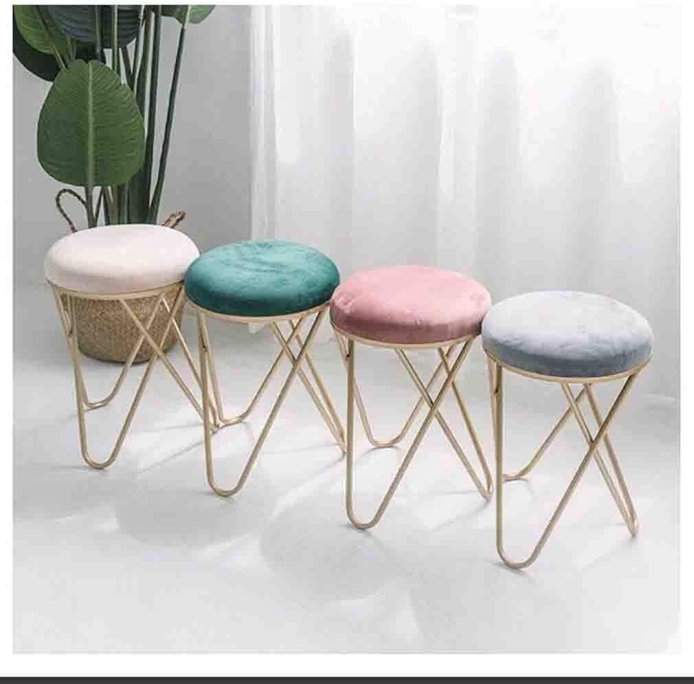 YCSD Nordic Moderne Chambre Princesse Tabouret Coiffeuse Tabouret Maquillage Chaise Fille Tabouret De Maquillage (Color : Pink) Gray