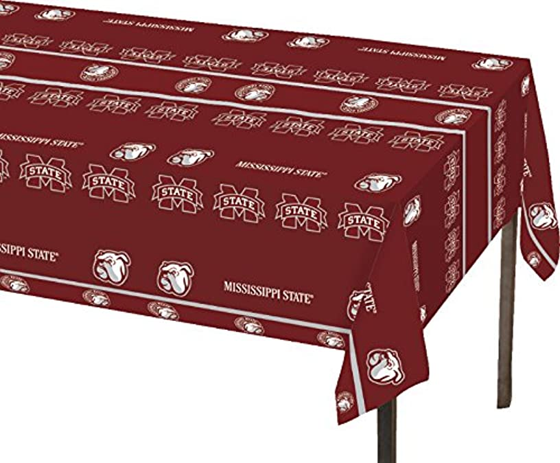 Creative Converting Mississippi State Bulldogs Plastic Table Cover, 54