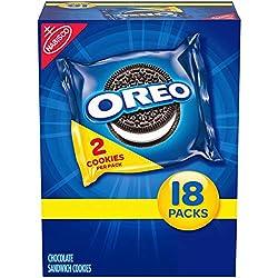 OREO Chocolate Sandwich Cookies, Halloween Treats, 18 Snack Packs (2 Cookies Per Pack)