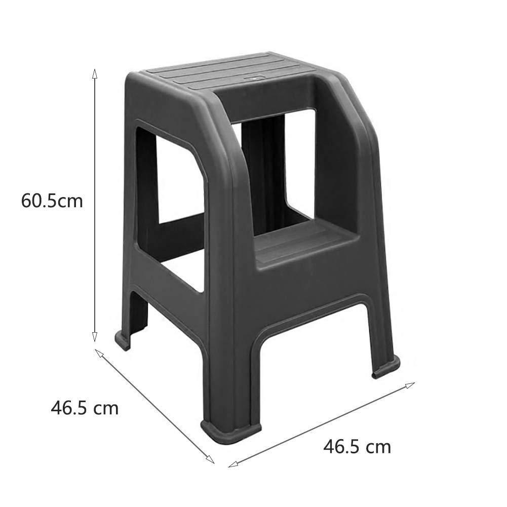 SEESEE.U Lavado de Autos Taburete Utilidad Plástico Taburete de 2 peldaños Escalas para el hogar Taburetes pequeños para pies Banco de Zapatos (Color: Gris): Amazon.es: Hogar