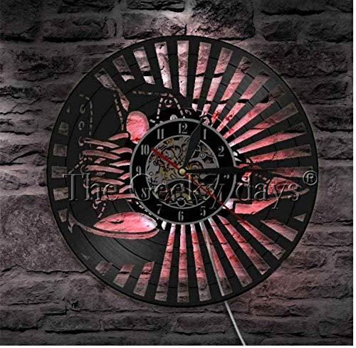 Disco de Vinilo Diseño de Zapato Reloj de Registro Decoración del hogar Art Club Room Tienda de Juegos Zapatillas Decorativas con Vinilo de 12 Pulgadas