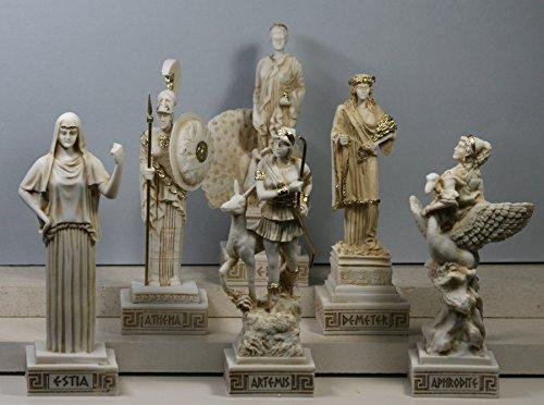 6Griechische Göttinnen Hestia Aphrodite Hera Athena Artemis Demeter Statue Skulptur
