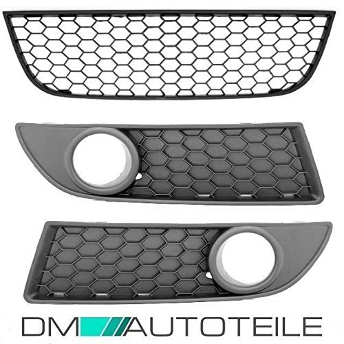 DM Autoteile SET Polo 9N3 Wabengitter Grill +Kühlergrill 4ltg.für GTI Umbau FACELIFT 05-09