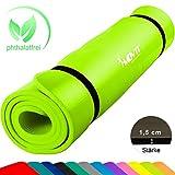 Movit XXL Pilates Gymnastikmatte, Yogamatte, phthalatfrei, SGS geprüft, 190 x 100 x 1,5cm, Hellgrün