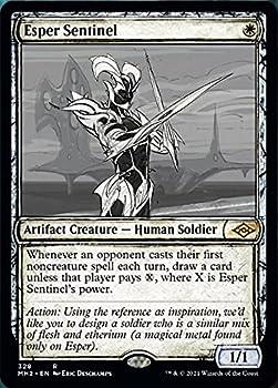Magic  the Gathering - Esper Sentinel  328  - Showcase  Sketch Art  - Modern Horizons 2