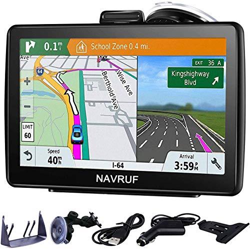 Navigatore satellitare per auto camion,7 pollici con aggiornamento gratuito a vita delle ultime mappe EU 2020 per il Regno Unito, include avvisi per autovelox con ricerca di codici postali