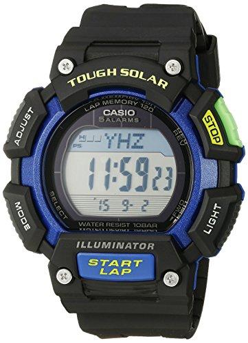 Casio Men's STL-S110H-1BCF Tough Solar Runner Digital Black and Blue Watch