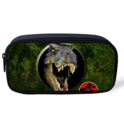 Cozeyat Dinosaur Pencil Case Zippered Cool Pencil Pouch Pencil Bag Organizer for School Students Stationery