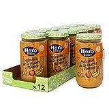 Hero Baby - Tarrito de Melocotón de la Huerta y Plátano, Ingredientes Naturales, para Bebés a Partir de los 4 Meses - Pack de 12 x 235 g