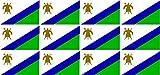 Mini Aufkleber Set - Pack glatt - 50x31mm - Sticker - Lesotho - Flagge - Banner - Standarte fürs Auto, Büro, zu Hause & die Schule - 12 Stück
