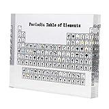 perfk Exhibición de Tabla Periódica con Elementos, Decoración de Exhibición de Tabla Periódica de Acrílico, Decoración de Manualidades de Regalos para Maest - L