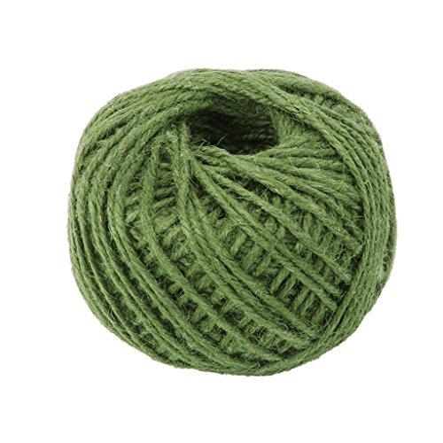 AK.SSI Corde en chanvre pour emballage cadeau, corde à boule, bricolage, décoration, bouteille en verre, 1 pièce, taille 50 m (vert)