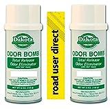 2 x NEW CAR SCENT Dakota Odor Bomb Odor Eliminator- Total Release Odor Eliminator / Air Freshener