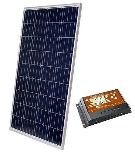 LightCatcher-Solar 100 Watt Solar Panel Kit, Polycrystalline Solar Panel and PWM Charge Controller