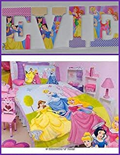 Disney Princess Inspired Wooden Letter Décor for wall hanging