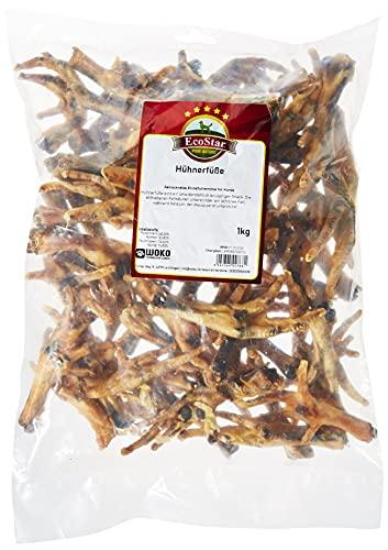 EcoStar Snack para Perros, Patas de gallina, 1 kg, 1 Unidad (1 x 1 kg)