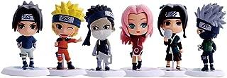 ALTcompluser Lot de 6 figurines en PVC Anime Naruto Statue Q Version figurine collective cadeau pour les fans dAnime
