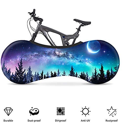 YYDM 3D Estrellado Cielo Cubierta Moto, Cubierta De Bicicleta Estática, Mantener La Habitación Ordenada, Resistente Al Agua, Al Polvo Y Protección UV, Que Se Utiliza para El 99% Bicicleta De Adulto,5