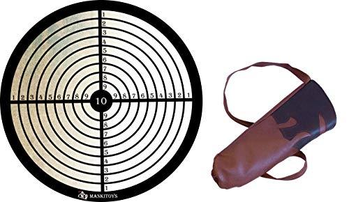 mankitoys Diana para ventosa + carcaj flechas infantiles redondas 8001