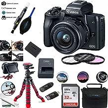 EOS M50 Mirrorless Camera Kit w/EF-M15-45mm and 4K Video - Black - Essential Accessories Bundle