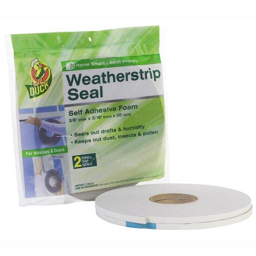 Duck Brand - Sellado autoadhesivo de espuma para aislar puertas y ventanas, Hueco pequeño, Separación pequeña, Blanco