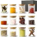 KIVY® Gewürzgläser Set [12 x 150ml] – Stapelbare Gewürzdosen aus Glas – Gewürzbehälter Set R& - Gewürzaufbewahrung - Gewürze Aufbewahrung - Gewürzglas Set Klein - Spice Jars - Gläser für Gewürze