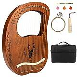 CestMall Harpe Lyre 19 corde, avec sac de transport/jeu de cordes...