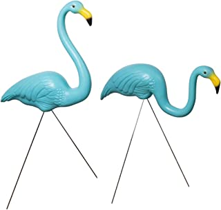 And Bird - Plastic Flamingo Novelty Yard Lawn Art Garden Ornaments, Adjustable Feet Length (1-Pack of 2)