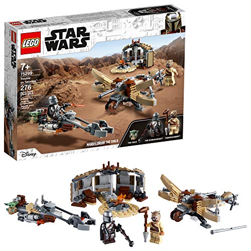 LEGO Star Wars: The Mandalorian Trouble on Tatooine 75299 Awesome Toy Building Kit for Kids Featuring The Child, New 2021 (276 Pieces)