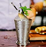 Taza de acero inoxidable Moscú Mule Mint Julep de 300 ml – Vintage Mint Julep Cocktail Cup, Flame Cup, Moscow Mule Sliver