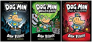 [#Dog Man 1,2,3 Book Series Set][Dog Man: A Tale of Two Kitties;Dog Man Unleashed;