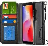 Ferilinso Cover Xiaomi Redmi 6A Custodia, Cover Cuoio Genuino Reale con Custodia Slot Holder per...