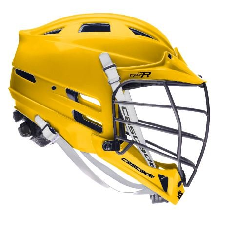 Cascade Athletic Gold CPV-R Lacrosse Helmet Black Mask-XS