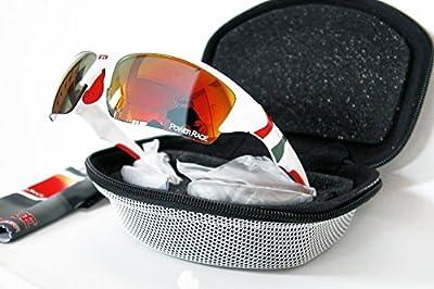 Radsportbrille mit Etui und drei Paar Linsen (1 x photochromen)