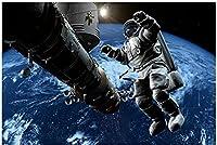 ファッション絵画50x70cmフレームレス抽象的な宇宙飛行士宇宙空間で働くポスター印刷壁アート絵画スタジオ家の装飾