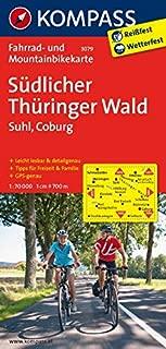 Südlicher Thüringer Wald - Suhl - Coburg 3079 GPS wp kompass: Fietskaart 1:70 000 (German Edition)