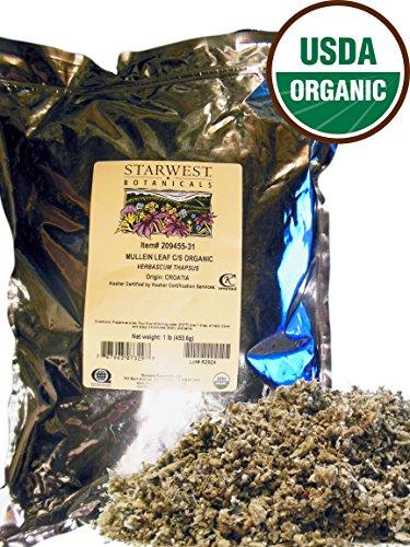 ORGANIC Mullein Leaf Cut & Sifted - 1 Lb. (16 oz.) - Starwest Botanicals