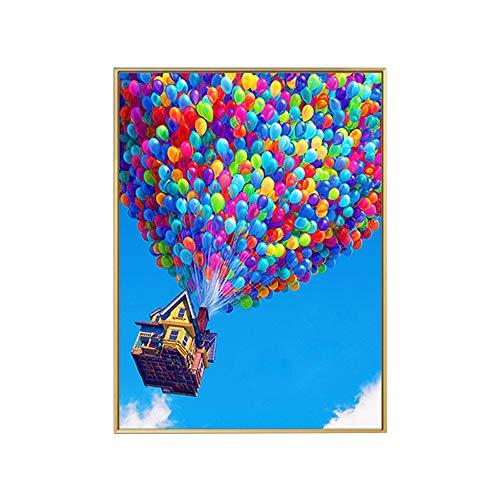 DBG 5D Diamond Painting Art Full Drill Set, 5D Balloon Diamond Painting Cross Stitch Kits Home Room Decoration,11.8 * 15.8inch(D)