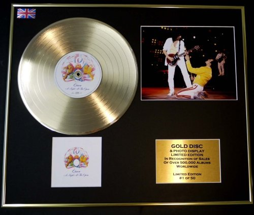 GOLD RECORD Disque d'or Queen/Disque d'or et Photo/LTD. Édition/COA/A Night at The Opera