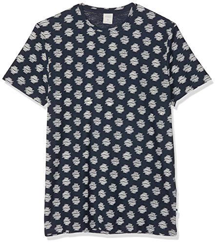 Springfield 8Hk AOP Tie Japo Camiseta, Azul (Gama Azules 13), Small (Tamaño del Fabricante:S) para Hombre