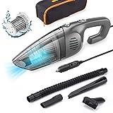 Car Vacuum,CCJK Corded Handheld Car Vacuum Cleaner,7000Pa Powerful Suction DC 12V 120W Auto