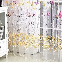 200 cm x100 cm Window Curtain Door Butterfly Tulle Voile Room Balcony Sheer Panel Curtain