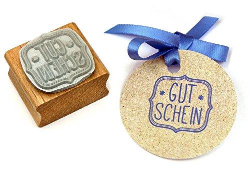 Stempel GUTSCHEIN, für Handmade, DIY, Schenken