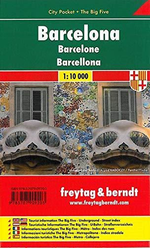 Barcelona, Stadtplan 1:10 000, City Pocket + The Big Five (freytag & berndt Stadtpläne)