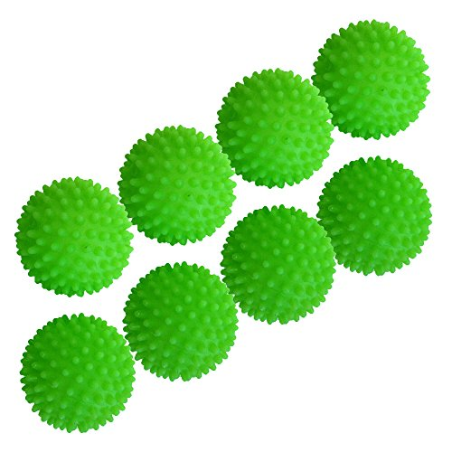 Set of 8 Black Duck Brand Green - Reusable Dryer Balls Replace Laundry Drying Fabric Softener and Saves You Money (8)
